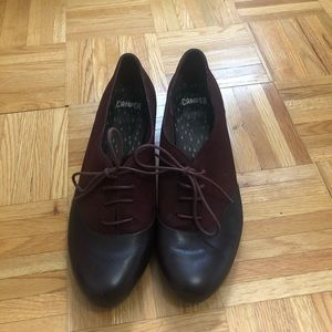 Leather Burgundy Camper loafers